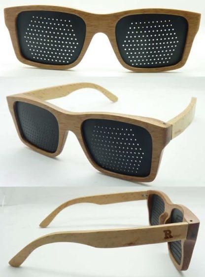 Houten Rasterbril lichtgekleurd