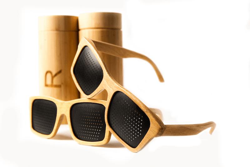 Houten Rasterbril