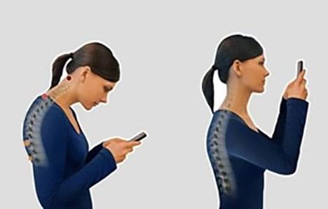 druk op je nek door smartphone